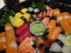 J-13 Double O Sushi Combo in Japanese Platter Tray